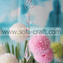 How to Make 16.5CM Clear Transparent Plastic Kite Wing Christmas Tree Bead Garland Prism Fit USA Curtain