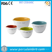Цвет Внутри Кухня Комплект Измеряя Чашки