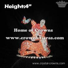 Crystal Reindeer Christmas Crowns With Butterfly