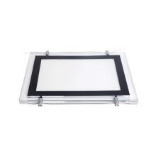 Real estate double side slim magnetic acrylic led backlit light photo frame