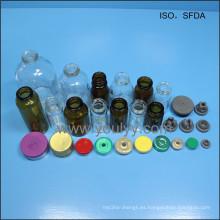 Tapas de frascos de vidrio