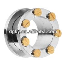 Túnel de perforación de oreja de descuento de joyas de acero quirúrgico