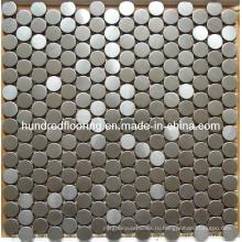 Круглая серебряная металлическая мозаика из нержавеющей стали (SM235)
