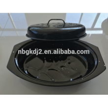 Enamel oval turkey roast pot ,chicken roaster,chicken baking pan