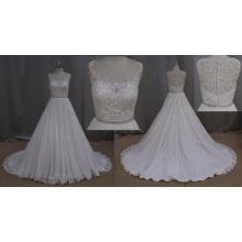 A-Line Bridal Dress Lace Beading Beading Sash