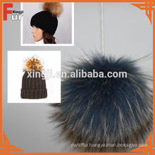 Luxury Real Fur Big Pompom For Cap