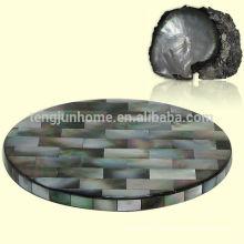 Plate-forme noire de mout de perle pour table à manger