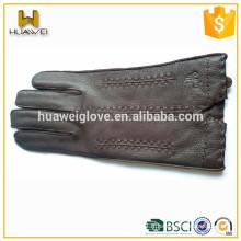 Gants d'hiver drôles en cuir Deerskin authentiques 100% de haute qualité