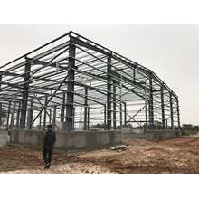 Cheap prefab built with structure steel pipe prefabricated  poultry  steel structure house