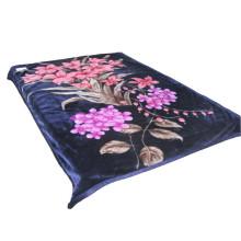 Centra Flower Print Cobertor de poliéster grosso pode ser usado como cobertor Swaddle