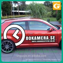 etiquetas da etiqueta do vinil do carro da impressão da etiqueta da propaganda / etiquetas livres da bolha para carros