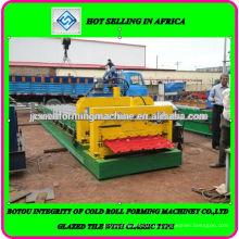 Нигерия шаг плитки рулообрабатывающий станок Производитель Сделано в Китае