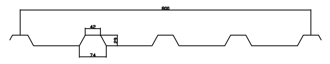 IBR roof sheet profile drawing