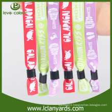 Custom festival wholesale printed fabric textile wristband for VIP