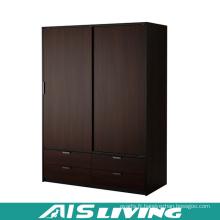 Placard fait sur commande de garde-robe de chambre à coucher de portes coulissantes de contreplaqué (AIS-W259)