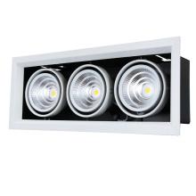 La lampe à trois têtes COB en aluminium a mené la lumière Downlight
