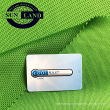 100% coolpass wicking tecido de ajuste seco para sportswear