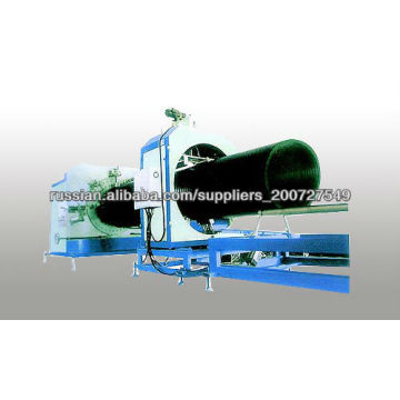 aço reforçada tubulação do HDPE de bueiro faz a máquina