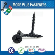 Fabriqué à Taiwan Bugle Head Fil fin Filetage grossier Phillips Drive Size High Low Thread Grey Phosphate Drywall Screw