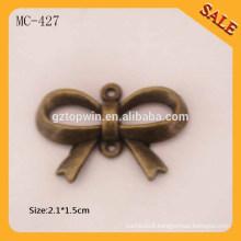 MC427 Antique Brass custom designer metal logo labels and tags for handbags