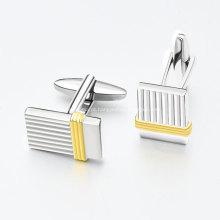 Abotoaduras personalizadas de metal maçônico ouro