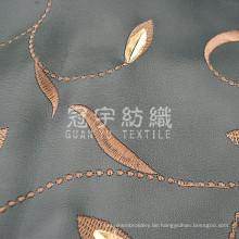 Stickerei PU-Leder Synthetikgewebe für die Polsterung