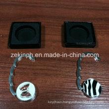 Custom Round Shape Printing Logo Metal Bag Hanger for Promotional Gifts