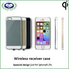 Tansparent pour iPhone Case Qi Housse de réception pour chargeur sans fil pour iPhone5 et 5s