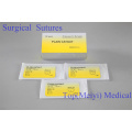 Sutura quirúrgica con aguja (Catgut / PGA / Nylon / Seda)