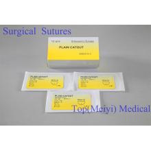 Хирургический шов - обычная хирургическая шовная кетгута с иглой