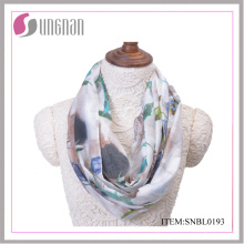 2016 Ink and Wash Painting Vintage Cotton Infinity Scarf (SNBL0191)