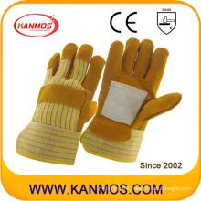 Brown Cowhide Split Leather Industrial Safety Work Gloves (11018)