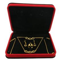 Conjunto de jóias de aço inoxidável 316L banhado a ouro