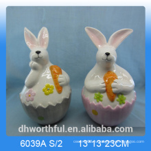 Прекрасная керамическая фигурка из кролика, украшение из керамического кролика, на Пасху