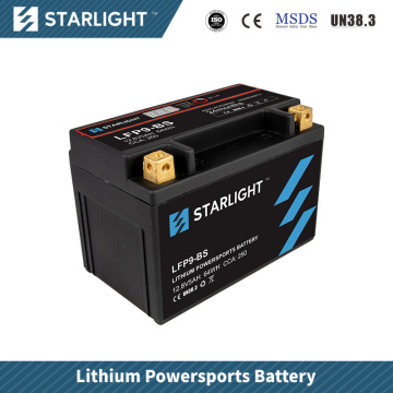 Batterie de moto au lithium LFP9-BS / batterie de sports motorisés