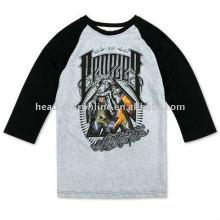 3 4 length sleeve t shirts with printing logo
