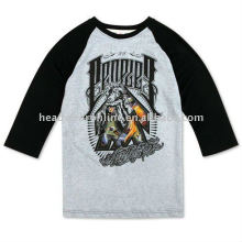 3 4 футболки с длинным рукавом с логотипом печати