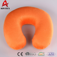 2018 customized solid color travel U shape pillow