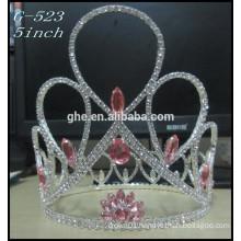 Silver kids princess tiara wholesale Hot Sale Beauty Girls Tiara crowns round pageant