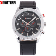 tre ögon chronograph quartz watch curren klassisk affärer titta japan rörelse