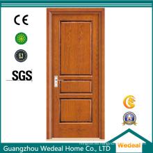 Puerta de chapa de madera maciza al ras de alta calidad
