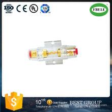 Fusible automatique pour 4ga ou 8ga Utilisez un boîtier transparent étanche à l'eau de fusible 5AG 24kt. Golg plaqué
