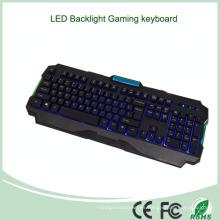 19 teclas Anti-Ghosting multimedia retroiluminada teclado de metal iluminado (KB-1901EL-B)