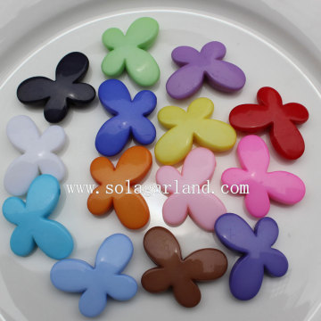 Opaque Colors Acrylic Butterfly Spacer Beads Design