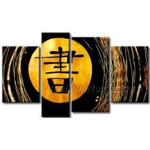 Gerahmtes handgemaltes Wanddekor-Ölgemälde auf Leinwand