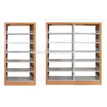 School metal furniture library used double side bookshelf