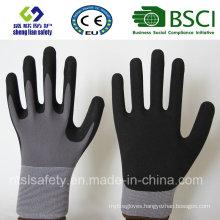 Nitrile Coating, Sandy Finish Safety Work Gloves (SL-NS110)