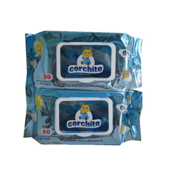 OEM Custom Single Package Alkoholfreies Babytuch