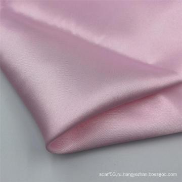 Гладкая окрашенная однотонная шелковая атласная ткань для шарфов из полиэстера