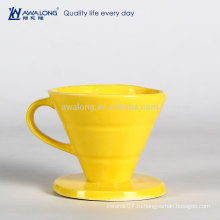 Yellow Painting Pretty Design Обычная Подержанная Fine Ceramic Drain Cup